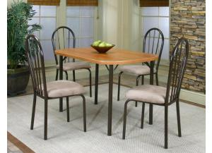 Heath Cherry Dinette Table & 4 Chairs