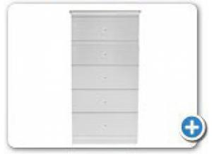 B840 White 5 Drawer Chest