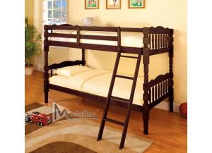 4520 Espresso Wood Bunk Bed with 2 Mattresses