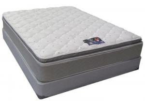 Blue Imperial King Size Double Sided Pillow Top Mattress Set
