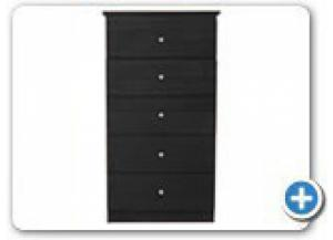 Image for B800 Black 5 Drawer Wood Chest