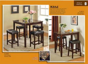 26400 Topaz 5pc Counter Height Dining Set