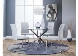 G5051-545 Bravo 5pc Dining Set with Light Gray Chairs