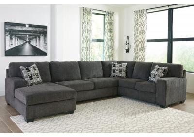 Image for Ballinasloe Smoke LAF Chaise Sectional