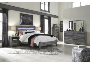 Baystorm Gray Queen Bed w/Dresser and Mirror