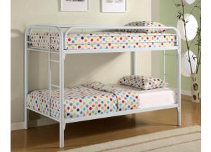 4005 Twin/Twin Bunk Bed - Frame Only - White