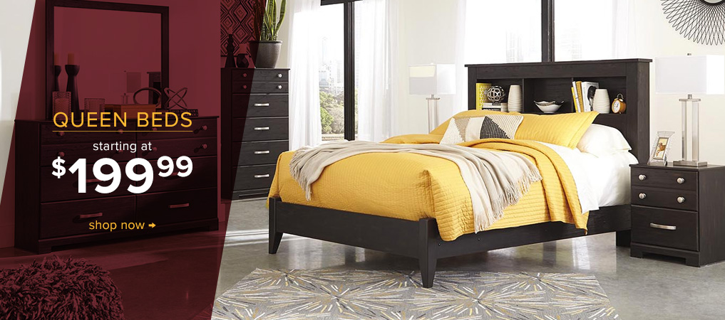 Queen Beds starting at $199.99