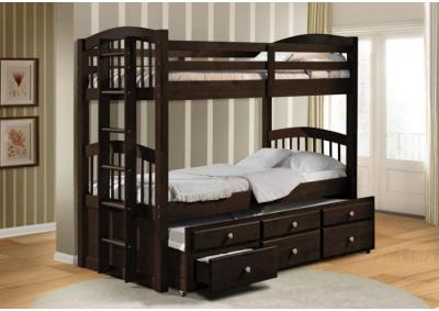 "Image for ""Triple"" Bunk Bed with 3 drawers"