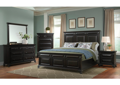 Image for Black Cal Mansion Queen Bed