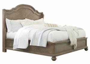 Image for Cottage Oak Queen Arch Bed