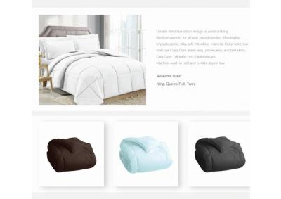 Image for Solid White Goose Down Alternative Comforter