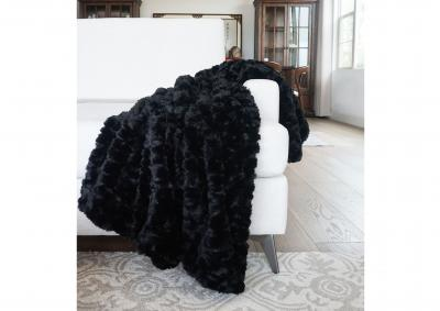 Image for Morgan Faux Fur Throw - Black