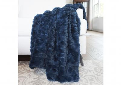 Image for Morgan Faux Fur Throw - Moonlit Ocean