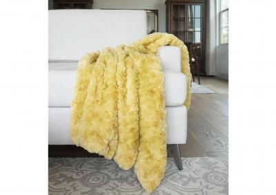 Image for Morgan Faux Fur Throw - Rattan