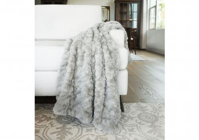 Image for Morgan Faux Fur Throw - Taupe