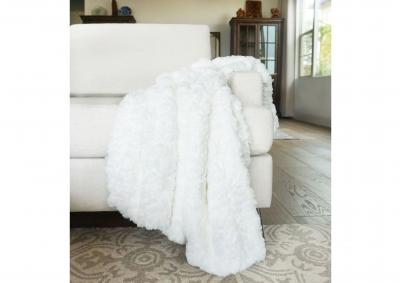 Image for Morgan Faux Fur Throw - White