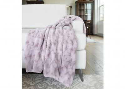 Image for Jackson Faux Fur Throw - Cloud Gray