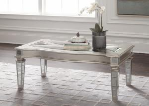 Image for Tessani Silver Rectangular Cocktail & End Table