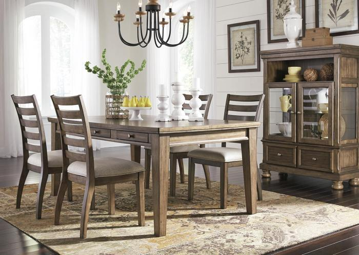 Flynnter 5 Piece Dining Room Set (Rectangular Table + 4 Chairs),In-Store Product