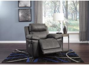 Image for Elangen Midnight Power Recliner w/Adjustable Headrest