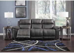 Image for Elangen Midnight Power Reclining Sofa w/Adjustable Headrest