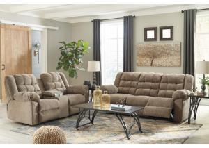 Image for Workhorse Cocoa Reclining Sofa and Loveseat w/Console