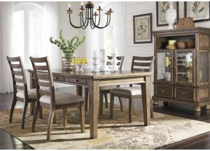Flynnter 5 Piece Dining Room Set (Rectangular Table + 4 Chairs)