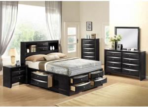 Image for Storage Bed, Dresser Mirror, Chest, 2 Nightstands