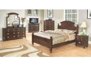 Image for Poster Bed, Dresser Mirror, Chest, 2 Nightstands