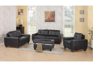 Image for Black Sofa & Love Seat