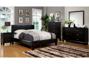 Image for Leatherette Full Espresso Platform Bed