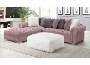 Image for Pink Velvet Sectional