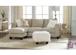 Image for Reversible Beige Sectional