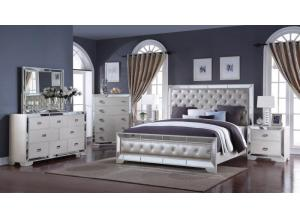 Image for Gloria Queen Bed, Dresser, Mirror, Chest, 2 Nightstands