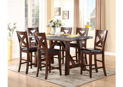 Image for Bluestone Real Marble 5 Piece Dining Room Set