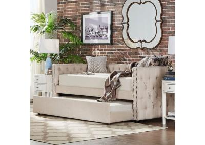 Image for Tufted Fabric Daybed