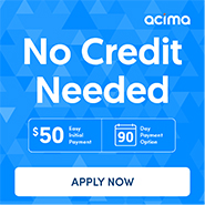 Acima furniture financing side ad