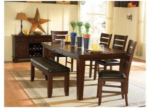 Image for 1586-822  Amellia Collection 6pc. Set Table, 4 Chairs, & Bench