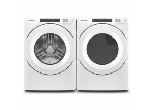 Image for Amana 4.3-cu ft High Efficiency Stackable Front-Load Washer & 7.4-cu ft Stackable Electric Dryer (White) ENERGY STAR