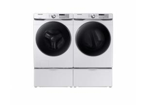 Image for Samsung 4.5-cu ft HE Front-Load Washer & Samsung 7.5-cu ft Stackable Electric Dryer (White) Pedestals not included*