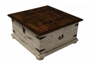 Image for Antique White Double Lid Coffee Table/Trunks