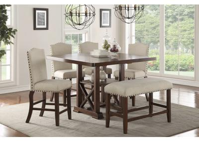 Image for 6pc Counter Ht table set with bench