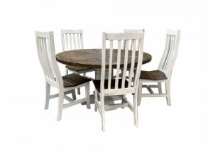 Image for French Quarters Round distressed looking 5PC Dining table (4 Chairs)