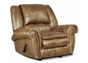 Image for Padre Nailhead Almond Color Recliner with marble pattern