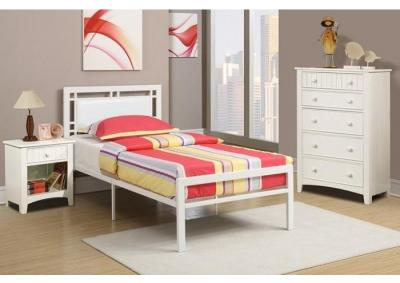 Image for TWIN PLATFORM BED WHT