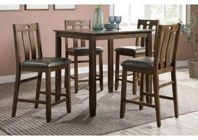 Image for 5PCS HEIGHT DINING SET TABLE+4 CHAIRS