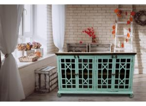Image for Turquoise Rustic Style Console