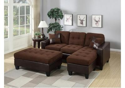 Image for REVERSIBLE 3PCS ALL-IN-ONE SECTIONAL CHOC