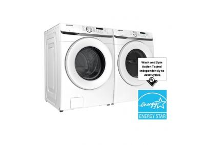 Image for Samsung 4.5-cu ft High-Efficiency Stackable Front-Load HE Washer & Samsung 7.5-cu ft Stackable Electric Dryer (White)
