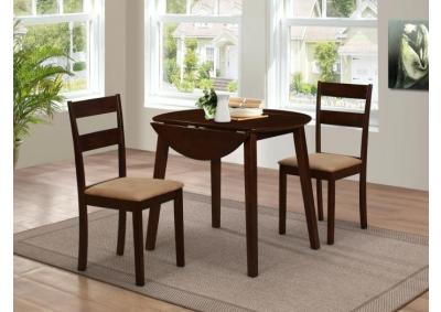 Image for Latitude Dark Cappuccino 3 Piece Dining Table Set